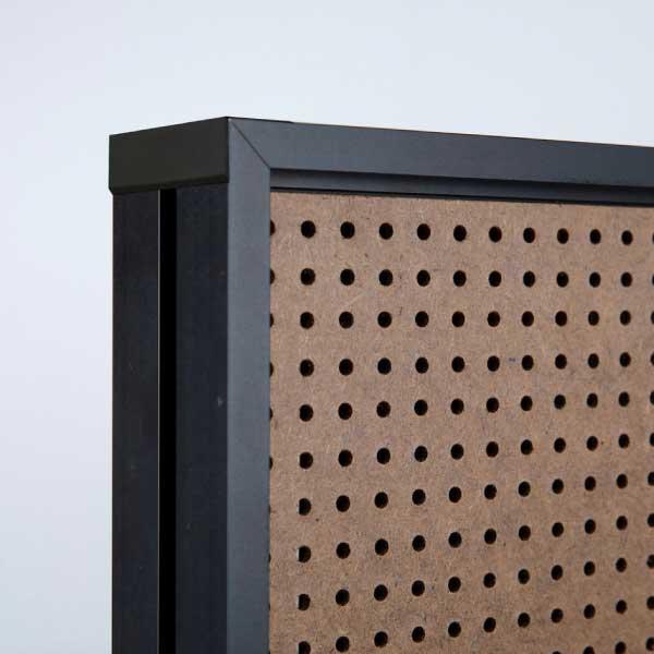 De binnenkant van een akoestisch paneel