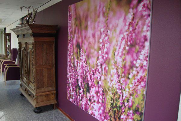 Textiel frame als interieurdecoratie