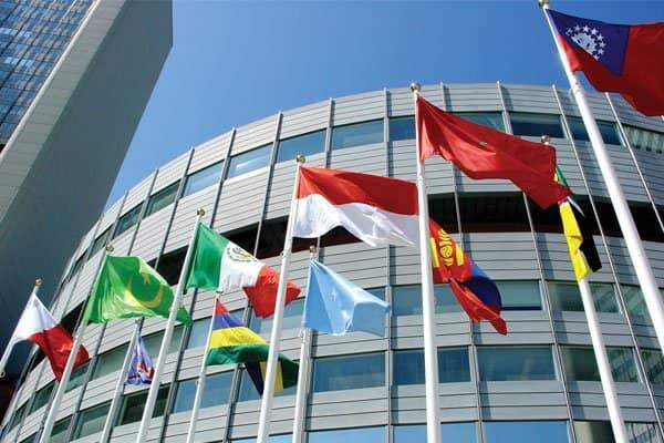 Bedrukte landen vlaggen