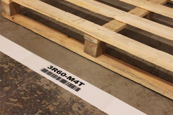 DuraStripe tape voor de vloer met barcode