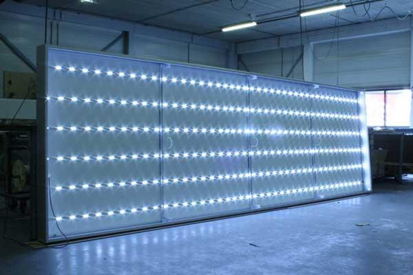 Lichtbakken met LED-verlichting